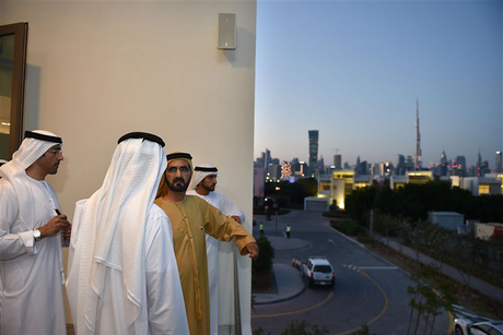 Dubai Ruler inspects Meydan's District One project