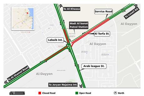 Qatar: Temporary closure on Al Tarfa Street