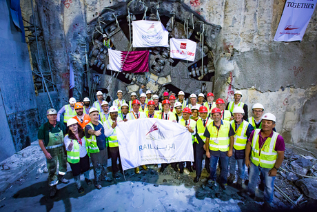In pictures: Doha Metro Red Line tunnelling ends