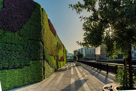 Dubai Properties unveils Middle East's largest living green wall