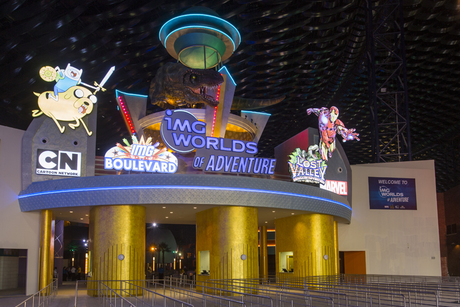 This is how Dubai's IMG Worlds of Adventure looks