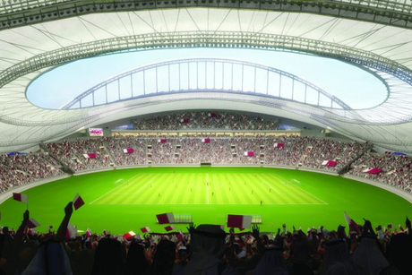 Khalifa International Stadium roof nearly finished