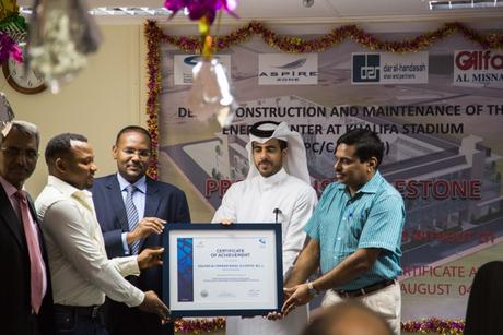 Khalifa Stadium achieves 1 million safe man-hours