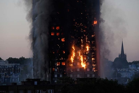Video: Huge fire engulfs 24-storey tower in London