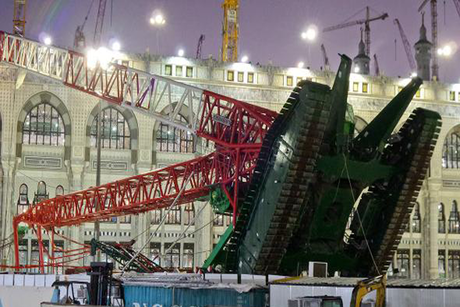"Saudi: No ""foul play"" in Mecca crane crash"