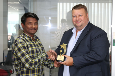 Transguard cleaner awarded for returning lost cash