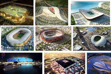 Qatar 2022 stadia construction at full throttle