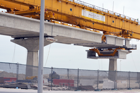 Doha Metro elevated viaduct sections completed