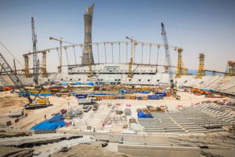 Khalifa Stadium 90% structural concrete work done