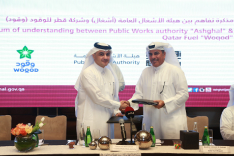 Ashghal signs MoU with WOQOD for bitumen supply