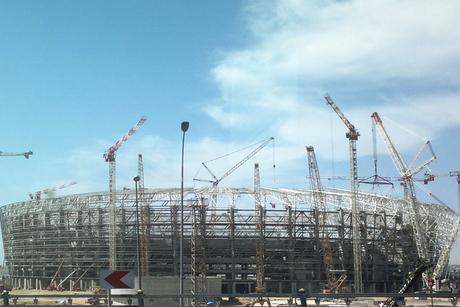 22 Skyjack scissor lifts assist with Baku stadium