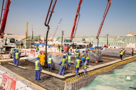 First concrete laid at Qatar World Cup stadium