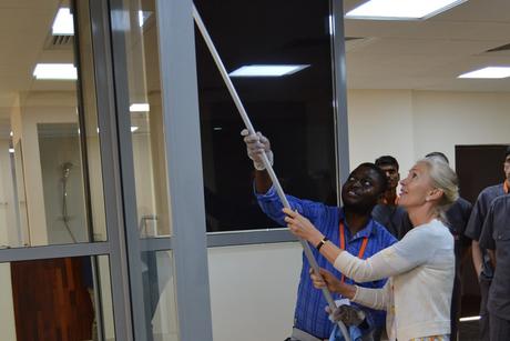 Swiss ambassador tours Farnek's training centre