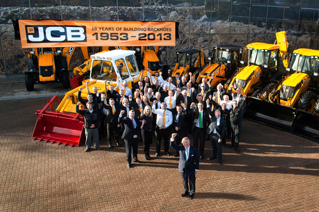 JCB celebrates 60 years of its backhoe loader
