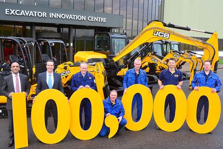 JCB marks 100,000th mini excavator milestone