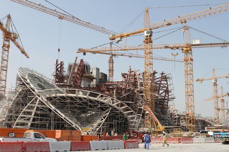 Liebherr cranes help out on Qatar's 'desert rose'