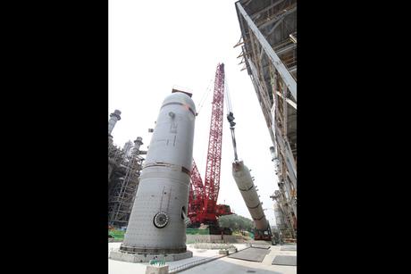 Petrochem plant enlists Manitowoc's largest crane