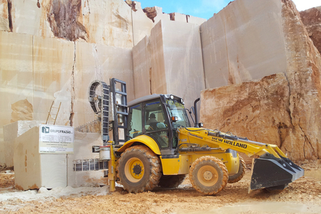 Users praise New Holland's marble-cutting backhoe