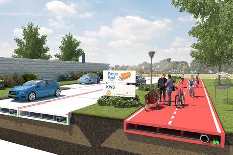 Netherlands mulls roads made of plastic bottles