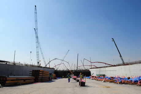 Site visit: Lusail City, contract package 5