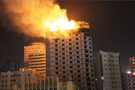 Fire in UAE at under-construction Sharjah tower