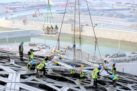 Final outer cladding for Louvre Abu Dhabi in place