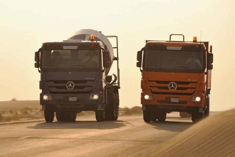 Oman contractor buys fleet of 20 Actros trucks