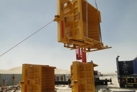 Giant sewage excavation bins arrive in Abu Dhabi