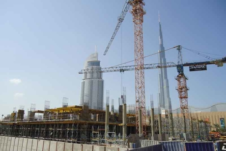 Damac residential project reaches first podium