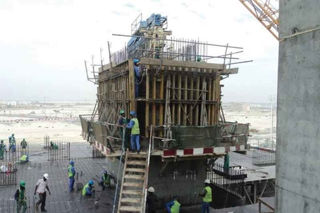 Damac Properties' Marina Bay reaches 7th floor