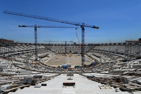 Brazil behind schedule in World Cup stadia race