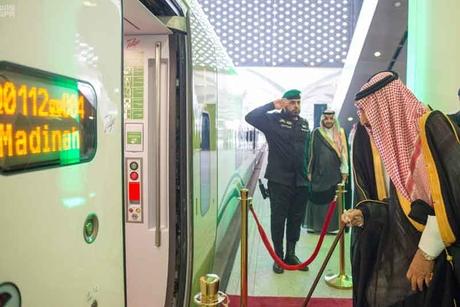 Saudi King attends opening of high-speed Haramain Rail
