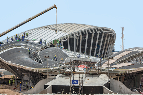 Construction update: Zaha Hadid-designed Bee'ah HQ in Sharjah