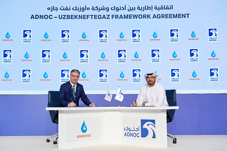 Adnoc, Uzbek gas firm Uzbekneftegaz ink operations MOU