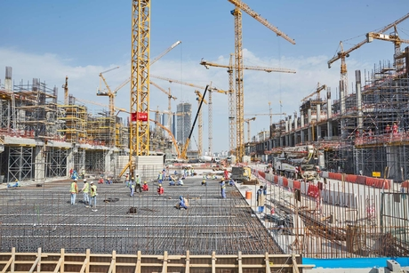 Pictures: Construction site of Dubai's Meydan One Mall