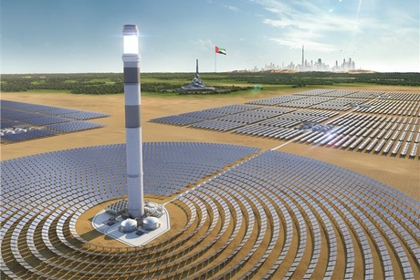 Construction progress for $4.3bn Phase 4 of Dubai's MBR Solar Park