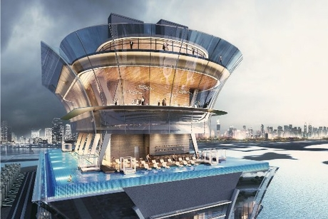 Construction nears completion on 240m deck at Nakheel's Palm Tower