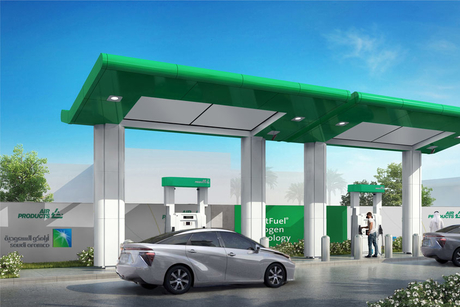 Aramco, Air Products open Saudi Arabia's first hydrogen fuel station