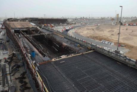 Roadworks for Dubai's International City, Dragon Mart 83% complete