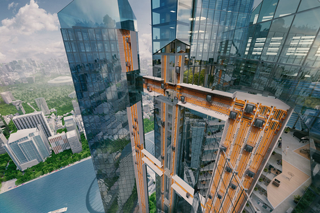 This German company is inventing an elevator that goes sideways
