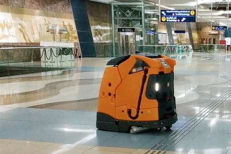 Meet the sensor-fitted robot cleaning Dubai Metro stations