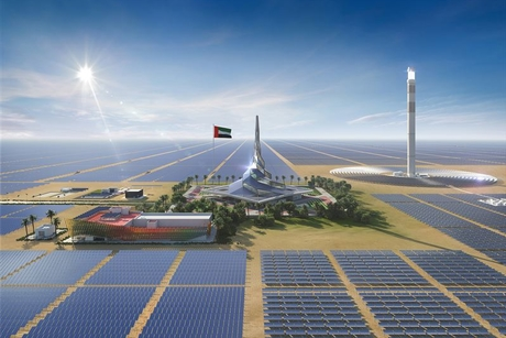 Dewa reviews progress on 800MW Phase 3 of Dubai's MBR Solar Park