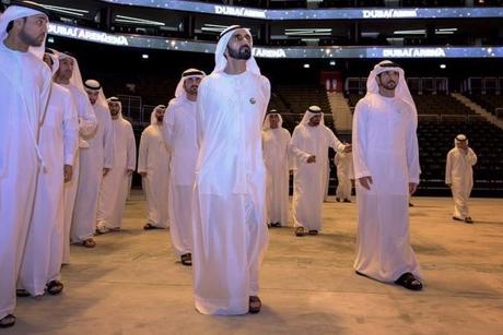 Sheikh Mohammed visits leisure megaproject Dubai Arena