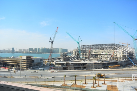 Concrete work completed for Yas Bay's Hilton hotel in Abu Dhabi