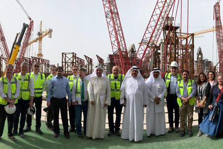 Government officials review Kuwait Airport T2 construction progress