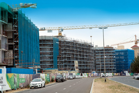 Construction site update of Dubai's $817m Mirdif Hills megaproject