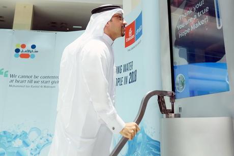 Dubai's Emirates joins Sheikh Mohammed's Well of Hope programme