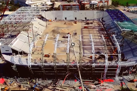 VIDEO: Assent's 135-day steelworks for Dubai's Al Maktoum Stadium