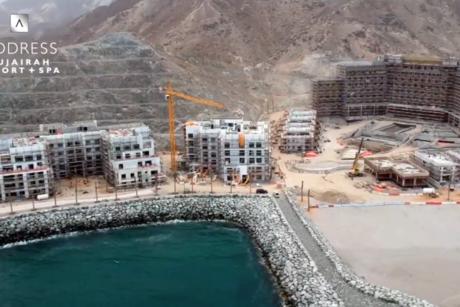 VIDEO: Construction site of Eagle Hills' Address Fujairah Resort + Spa