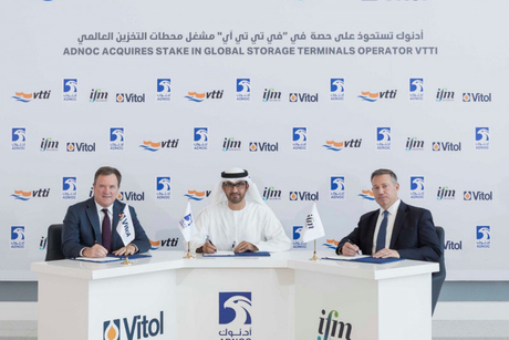 Adnoc acquires 10% stake in terminal owner, operator VTTI